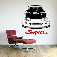 Toyota Supra Turbo Wall Decal Sport Racing Car Art Mural Vinyl Sticker 24 95 Picclick