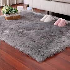 Faux Fur Rug Tayyakoushi Soft Fluffy Rug Shaggy Rugs Faux Sheepskin Rugs Floor Carpet For Bedrooms Living Room Kids Rooms Decor 2 3ft 3ft Walmart Com Walmart Com