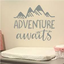 Adventure Awaits Vinyl Wall Decal Art Nursery Quote Lettering