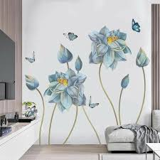 Pin By Mavinaki Anastasia On Wall Stickers Decals In 2020 Wall Stickers Bedroom Flower Mural Flower Wall Stickers