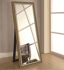 glass rectangle wall mirror in gold