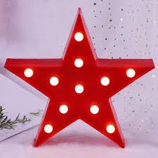 Japanamstore Led Night Light Star Pineapple Table Lamp Kids Room Decoration Lights Christmas Decor Red Star Amazon Com