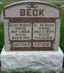 BECK, C. W. (CHARLES WESLEY) - Ringgold County, Iowa | C. W. (CHARLES WESLEY)  BECK - Iowa Gravestone Photos