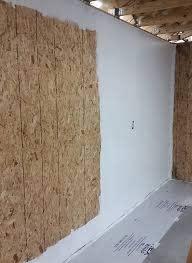 insulating and sheathing garage walls