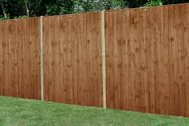 6ft X 6ft 1 83m X 1 85m Pressure Treated Featheredge Fence Panel Dark Brown Forest Garden