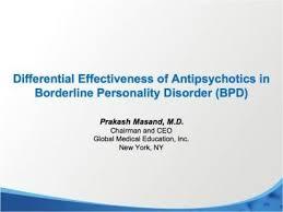 Antipsychotics in Borderline Personality Disorder   Personality disorder,  Borderline personality disorder, Disorders
