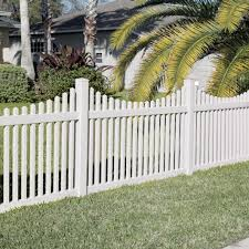 Carlisle 4x6 Vinyl Picket Fence Kit Vinyl Fence Freedom Outdoor Living For Lowes