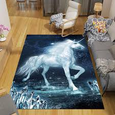 3d Cartoon Unicorn Carpet Children S Room Cute Unicorn Large Size Rug Kids Livingroom Bedroom Boy Girl Soft Floor Mat Tapete Carpet Aliexpress