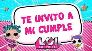 Invitacion Fiesta De Cumpleanos Lol Surprise Para Whatsapp 400
