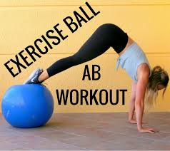 exercise ball ab workout