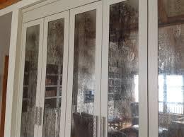 antique mirror patina panels created