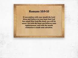 Romans 10 9 10 Scripture On The Walls