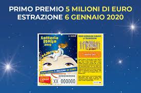 Lotteria Italia 2020: come funziona l'estrazione del 6 gennaio ai ...