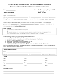 60 day notice to vacate template fill