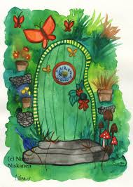 Original Illustration For Kids Room This Is Illustration Of A Fairy Door Open It And World Of Wonders Opens Before Your Very Eyes Painted With Watercolors On Heavy Watercolor Paper Great Gift