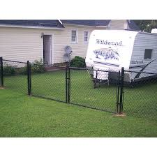 5 Ft H X 10 Ft W Vinyl Coated Steel Chain Link Fence Gate In The Chain Link Fence Gates Department At Lowes Com