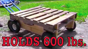wooden pallet to wheel cart cam trolley