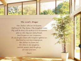 Diy Vinyl Wall Sticker The Lord S Prayer Wall Paper Home Decal For Door Window Decoration Bible Scripture Wall Stickers Aliexpress