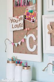Vintage Kids Desk Turned Pink Crafting Goodness The Lilypad Cottage