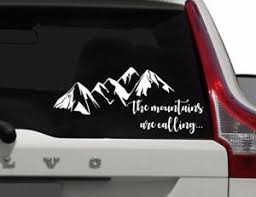The Mountains Are Calling Car Window Decal Outdoors Window Sticker Ebay