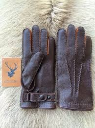 leather gloves with rabbit fur lining