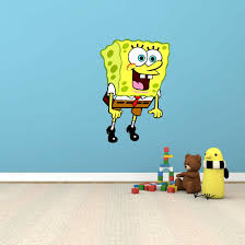 Spongebob Squarepants Funny Cartoon Kids Room Wall Decor Sticker Decal 16 X25 For Sale Online