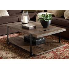 rustic natural storage coffee table