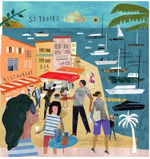 St Tropez for lodenfrey – Martin Haake Illustrations