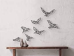 Amazon Com Geometric Birds Wall Art Sculpture Flock Of Birds Bird Flying Wall Art Large Decor Abstract Minimalist Animal Everything Else
