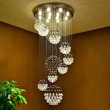 led crystal ceiling pendant lights