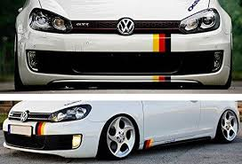 10 Germany Flag Color Stripe Decal Sticker For Euro Car Ijdmtoy Com