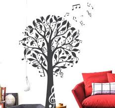 Music Tree Decal Notes Tree Vinyl Wall Decal Wall Sticker Etsy