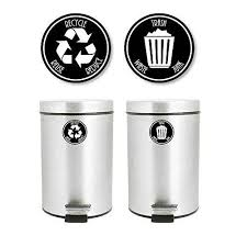 Recycle And Trash Decal Sticker For Trash Cans For Personal Home Or Business Use 953 5 X 5 Black White Walmart Com Walmart Com