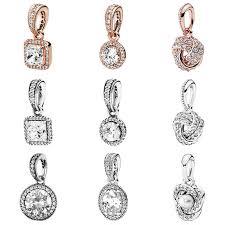 sparkling love knot necklace
