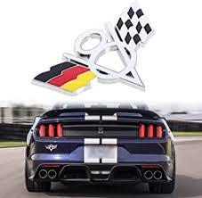 Amazon Com Xotic Tech Metal Germany Flag Racing V8 Car Body Trunk Bumper Trim Emblem Badge Decal Sticker For European Cars Universal Fit Chevrolet Automotive