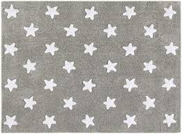 Amazon Com Lorena Canals Stars Grey White 4 X 5 3 Baby Kids Rugs Washable Rugs Kid Room Carpet