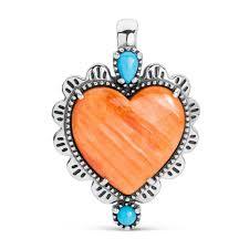 sterling multicolored heart pendant