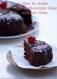 eggless chocolate cake recipe in