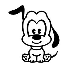 E Dog Puppy Vinyl Sticker