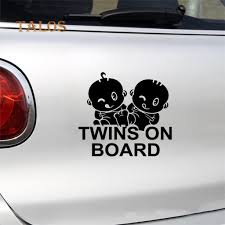 Twins On Board Waterproof Car Styling Decal Sticker Vehicle Windows Decoration Grown Up Buy At A Low Prices On Joom E Commerce Platform