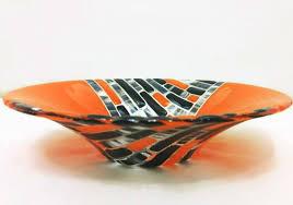 fused glass bowl handmade glass art