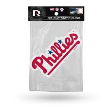 Philadelphia Phillies Die Cut Static Cling Decal Sticker 6 X 2 New Ca Hub City Sports
