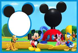 Marcos Para Invitaciones De Mickey Mouse 3 Decoracion De Fiestas