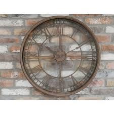 rustic large wall clock clocks