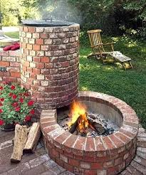 red brick fire pit breakthrough outdoor