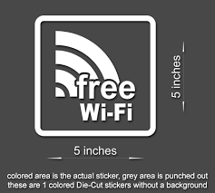 4 X Free Wi Fi Sign Vinyl Sticker Business Office Window Door Decal St Stickerboy Skins For Protecting Your Mobile Device