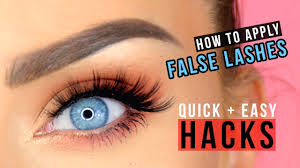 easiest way to apply false lashes for
