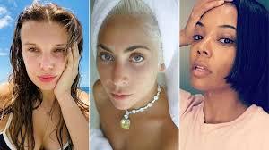 makeup free celebrity selfies