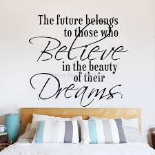 Future Belongs To Believe Dreams Wall Sticker Home Decorations Living Room Decoration Removable Vinly Wall Decals Wallpaper Dream Wall Sticker Wall Stickerwall Decals Aliexpress