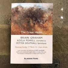 """Sladers Yard Gallery on Twitter: """"Opening tomorrow! Sunday 17 March 12-2pm  The Great Heath: Brian Graham's paintings exploring Thomas Hardy's Egdon  Heath with ceramics by Adela Powell and furniture by Petter Southall."""